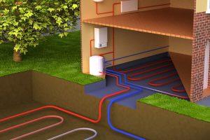 ground source heat pump working