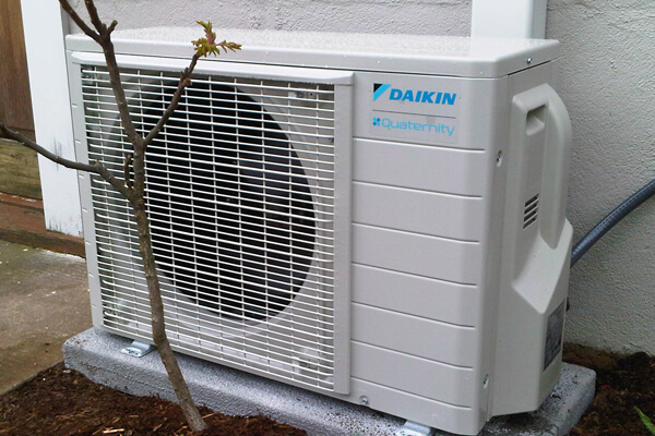 The daikin altherma heat pump in action