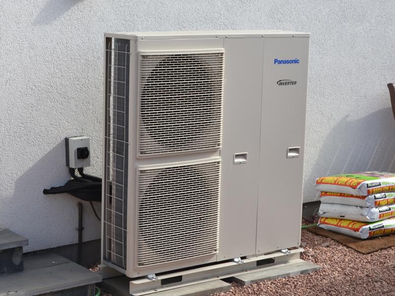 The panasonic aquarea air source heat pump