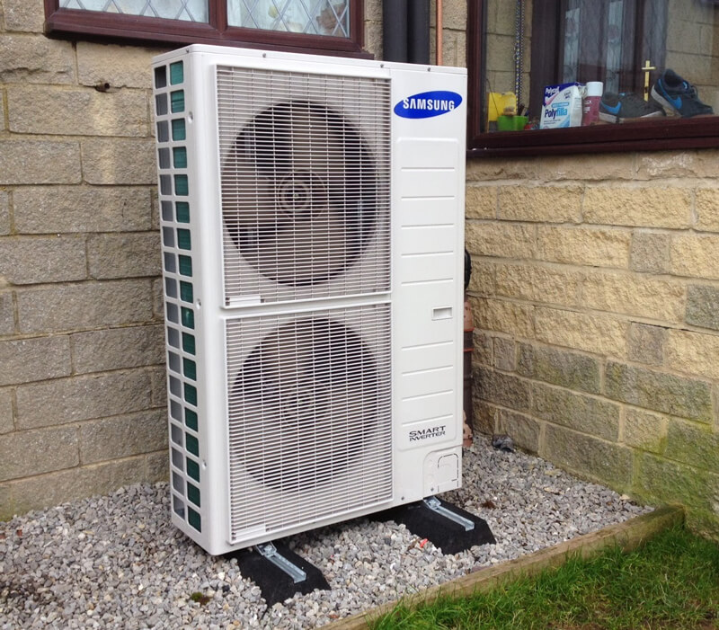 samsung heat pumps outside