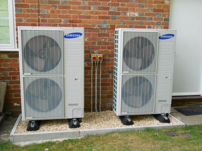 Samsung heat pump x2